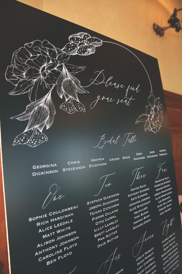 Black Orchid Table Plan