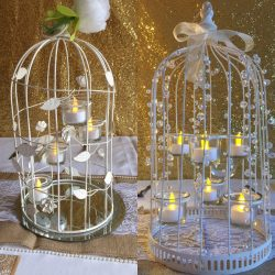Birdcage 4 and 6 T-Light Centrepiece